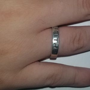 Faith sterling silver ring size 7 GUC .925 band